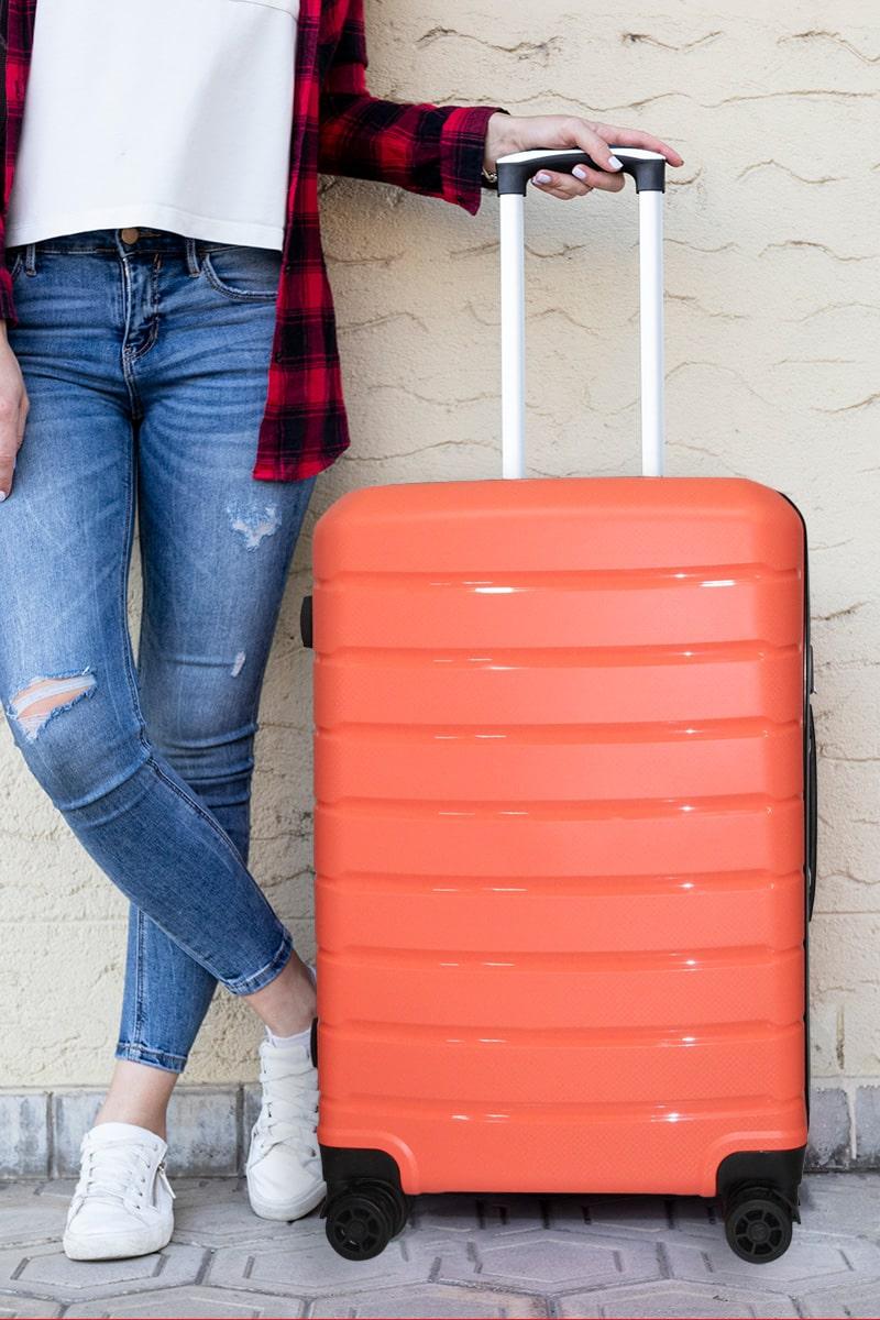 vali nhựa dẻo màu cam
