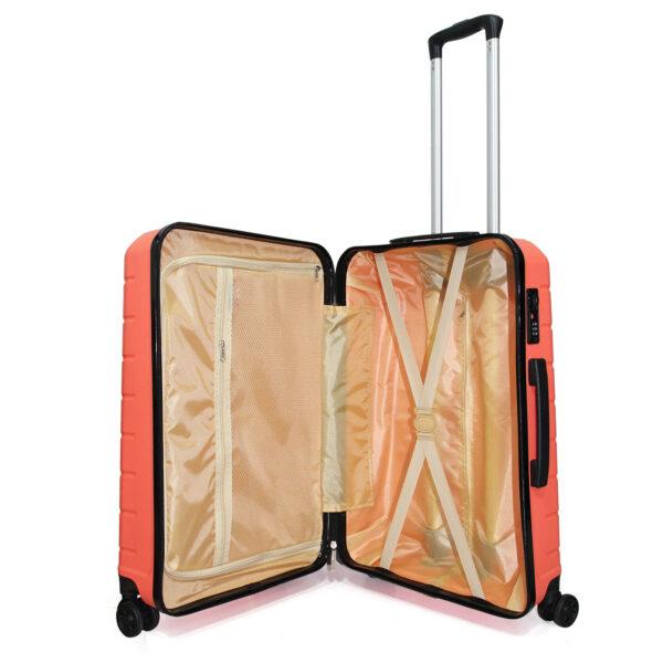 vali nhựa dẻo VL030 size 24 màu cam cà rốt