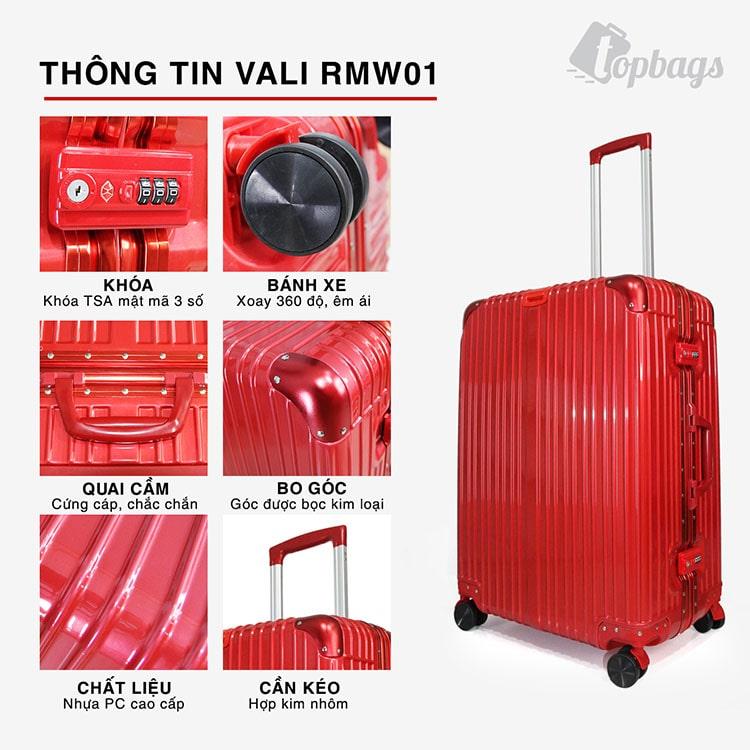 Vali khung nhôm RMW01