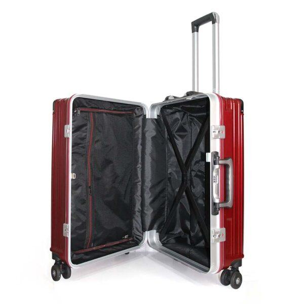 vali khoá sập KN034 size 24 màu đỏ