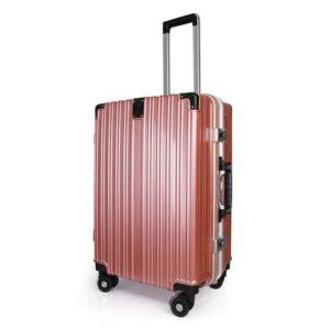 vali khoá sập KN034 size 24 màu hồng gold