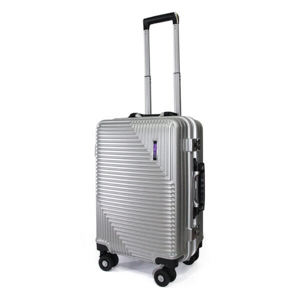 vali khóa sập VL025 size 20 màu xám bạc