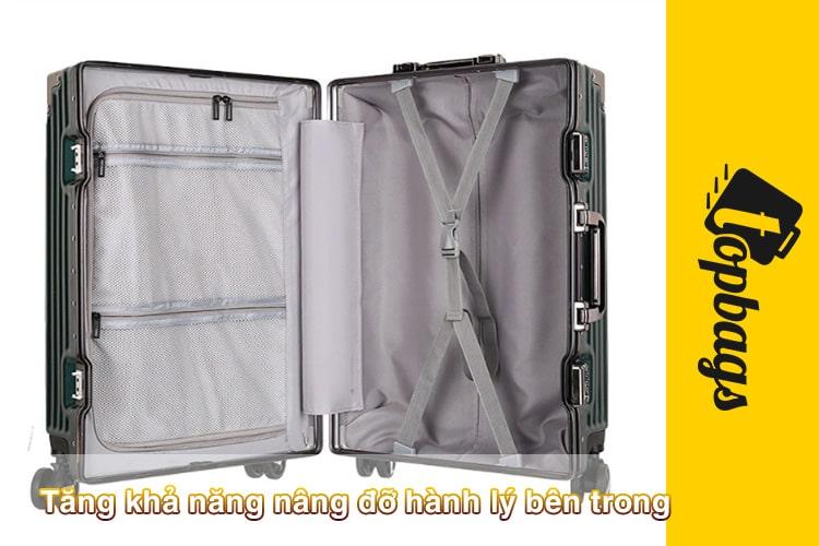 Tăng khả năng nâng đỡ hành lý bên trong-vali khung nhôm