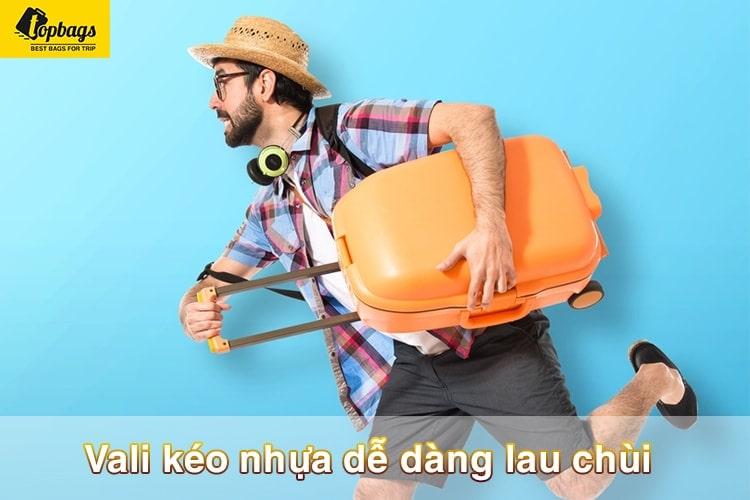Vali kéo nhựa dễ dàng lau chùi-vali kéo du lịch giá rẻ