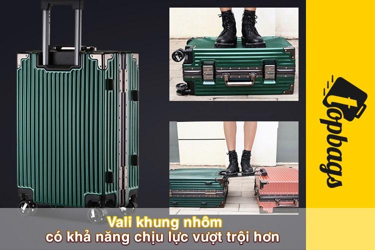 Vali khung nhôm có khả năng chịu lực vượt trội-min