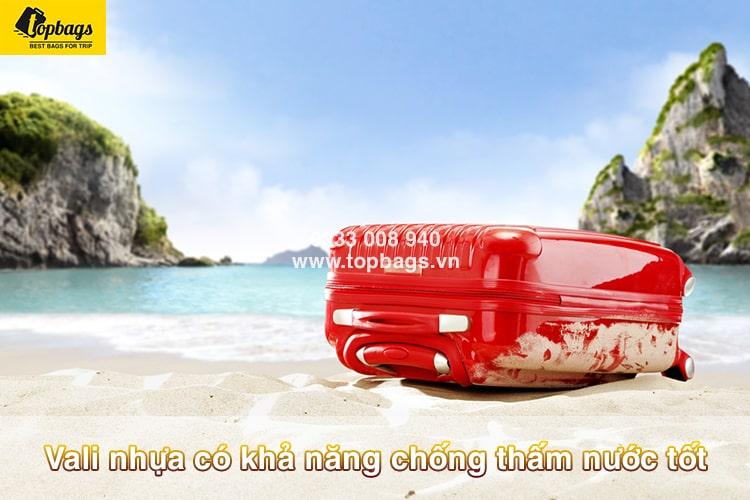 Vali nhựa có khả năng chống thấm nước tốt-min