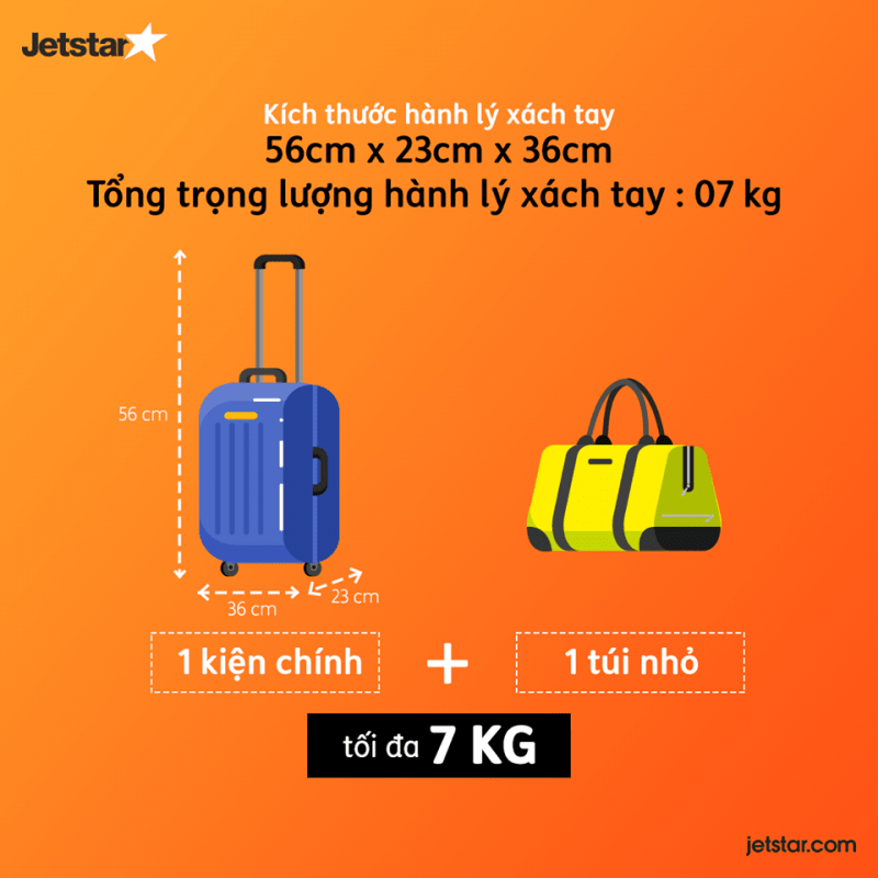 hành lý xách tay jetstar topbags
