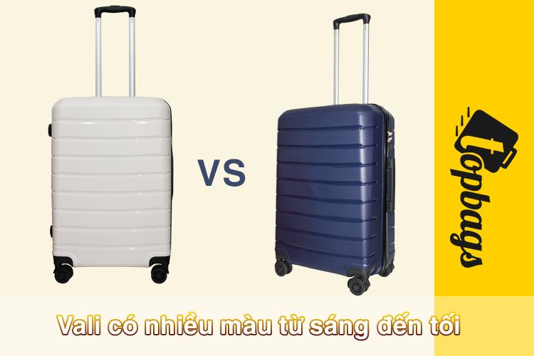 vali màu sáng tối - Vali du lịch cao cấp