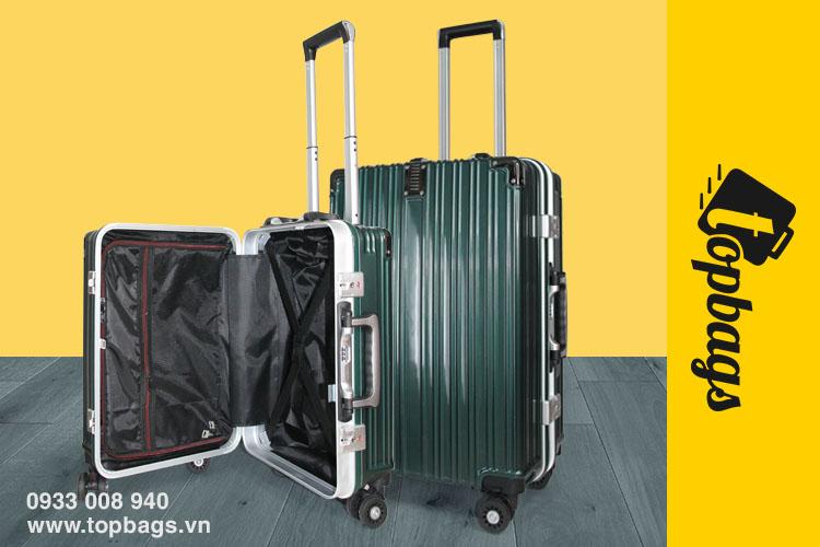 vali khóa sập TSA KN034 màu xanh rêuvali-khung-nhom-cao-cap-KN034-mau-xanh-reu